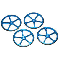 Blue Alloy 1:10 RC Set Up Wheels for touring or drift car, suit Tamiya Sakura