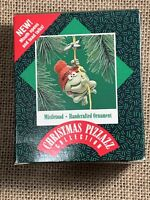 HALLMARK 1987 MISTLETOAD  ORNAMENT CHRISTMAS PIZZAZZ NOS