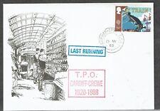 Cardiff-Crewe TPO 1988 cachet au dernier jour du TPO Couverture selon scan Label écartant