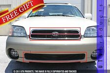GTG Gloss Black 3PC Billet Grille Kit fits 2000 - 2002 Subaru Legacy Outback