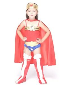 Super Hero Girl Costume Inspire by Wonder Woman for Halloween Cosplay Party S-XL