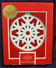 Lenox Colors of Christmas Snowflake Porcelain Holiday Christmas Ornament w/ Box