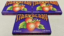 3X Jamaican Strawberry Flavored 1.5 Gummed Cigarette Rolling Papers 33 Per Pack