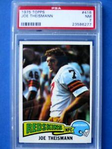 1975 Topps #416 - Joe Theismann - PSA 7.0 - Rookie Card - Washington Redskins
