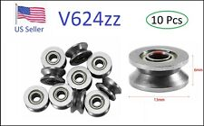 10pcs 4x13x6mm V624zz High Carbon Steel Deep V Groove Pulley Rail Wheel Ball