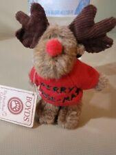 Boyds Bears Mini 4 inch Christmas Moose Red Sweater Merry Moose-Mas