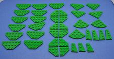 LEGO 39 Stück Platten Flügelplatten grün Zubehör Ersatz | green special plate
