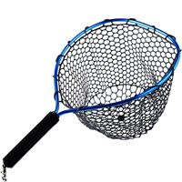 Rudder Fly Fishing Landing Net Rubber Trout Catch and Release Net Light Weight