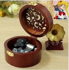 CIRCLE WOOD SILVER MUSIC BOX : Sailor Moon Moonlight Densetsu