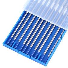 "10pcs TIG Welding Tungsten Electrodes 2% Lanthanated 3/32""x 6"" Blue Tip WL20 CE"