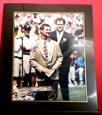 N Y YANKEE DON MATTINGLY & MICHAEL KAY AUTOGRAPHED 16 X 20 FROM DON RET. DAY