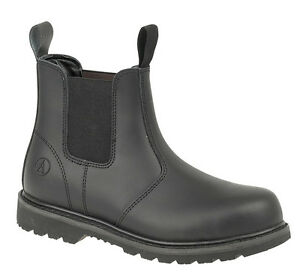 Amblers FS5 Black Leather Dealer Chelsea Safety Work Boot SB Sizes 5 to 13
