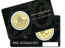 2015 Royal Australian Mint RAM 50th Anniversary 50c Gold Plated Coin