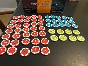 2009 Trivial Pursuit BET YOU KNOW IT Betting Poker CHIPS ONLY Replacement Parts