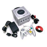 Nintendo GameCube DOL-101 Platinum Console Bundle w/ Controller & Spider-Man 2