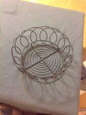 "Black Wire Basket For Fruits, Veggies 9"" Diameter X 3 7/8"" Tall"