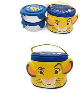 The Lion King 2 Layers Round Bento Lunch Box Food Container With Bag