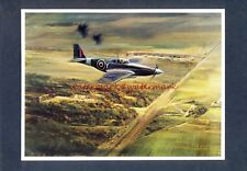 AVIATION ARTIST Frank Wootton Mounted Print 'MUSTANG PHOTOING V1 SITE, 1943