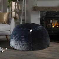 Bean bag Cover Furry Bean Bag Black without Bean XXXL for luxuries Living room