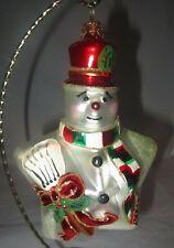 Polonaise Kurt Adler Star Snowman Glass KOMOZJA Christmas Ornament