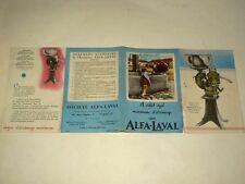 Prospectus Agricole Ecremeuse ALFA LAVAL (6) Lait Milk Tracteur Brochure