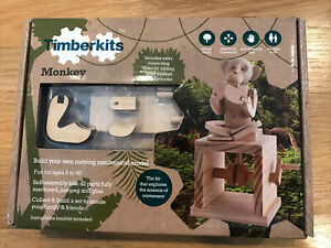 TimberKits Monkey NEW Automaton Wooden Kit Mechanical Science Of Movement