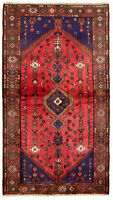 """Hand-knotted Carpet 3'4"""" x 6'1"""" Traditional Vintage Wool Rug"""