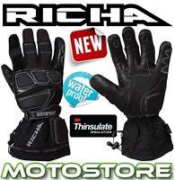 RICHA CARBON WINTER WARM THERMAL MOTORCYCLE MOTORBIKE WATERPROOF GLOVES NEW