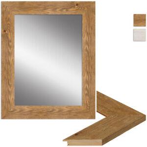 WANDStyle Spiegel H780 aus Massivholz - Strandhaus, Rustikal, Sägerau Weiß Eiche
