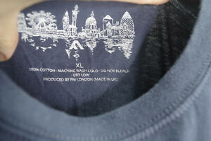 4 x T shirts - Produced by FM London - MADE IN UK - Size XL - HIGH QUALITY SOFT