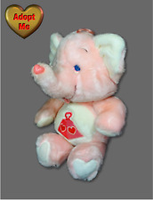 Kenner Care Bears Cousins 1984 Vintage Lotsa Heart Elephant Stuffed Plush Animal