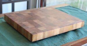 Hardwood Butchers Block / End Grain Cutting Board Made to Order 60x40x4 cm