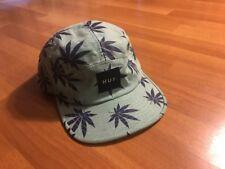 HUF Mens 5 Panel Hat Adjustment Strap Back With Clip Floral Print