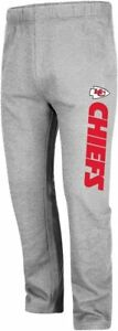 Kansas City Chiefs Men's Big & Tall Critical Victory Fleece Sweatpants - Gray