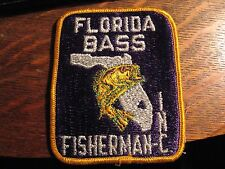 Florida Bass Fisherman Inc Patch - FL Fishing USA Embroidered Fish Jacket patch