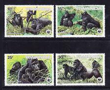 More details for rwanda 1985 gorillas - set of 4 - superb unmounted mint. catalogue £42