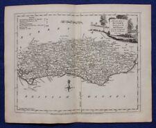 SUSSEX, original antique atlas county map, J.Ellis, c.1765