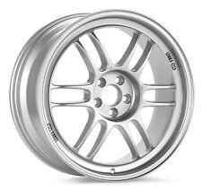 18x9 Enkei RPF1 5x114.3 +35 Silver Wheels (Set of 4)