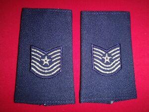 Pair Of US Air Force MASTER SERGEANT MSG Rank Epaulets