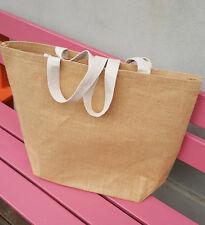 Jute Market bag extra large Tote bag Produce bag - Laminated - Stock in Sydney