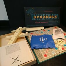 Vintage Scrabble Deluxe, Spears Games, Boxed, Complete, 1960s with turntable