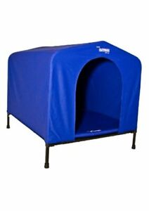 HoundHouse Kennel Dog House, Large, 84 x 73 x 80 cm, Blue