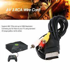 Audio Video Composite Cable AV 3 RCA Wire Cord For Xbox Original Classic KW