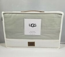 UGG 100% Cotton PETRINA KING SHEET SET MINERAL Color 600 Thread Count - NEW