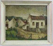 Heinrich Molenaar, holländischer Expressionist, Landschaft mit weissen Häusern