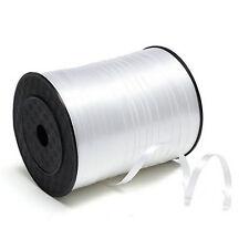 5mm Roll Curling Balloon Ribbon 500yd White N3