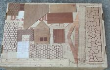 Parts for Dollhouse~New Wallpaper Bk~Unused wood pieces~Furniture~Vntg~Arrow Co