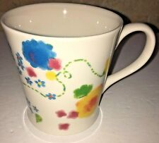 2006 Starbucks Mug Cup Multicolor Watercolor Floral Flowers LARGE 12oz Spring
