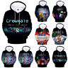 Unisex Kids Among Us  Crewmate Hoodie Pullover Sweater Sweatshirt  Happy Holiday