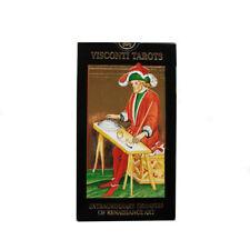 Visconti Tarot Sforza Deluxe Oro impresiones 78 cartas de cubierta de tamaño estándar